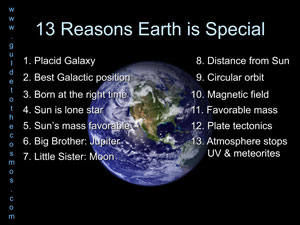 13 reasons why Earth is special.