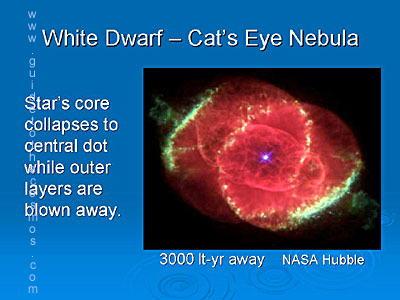 cat's eye nebula - white dwarf